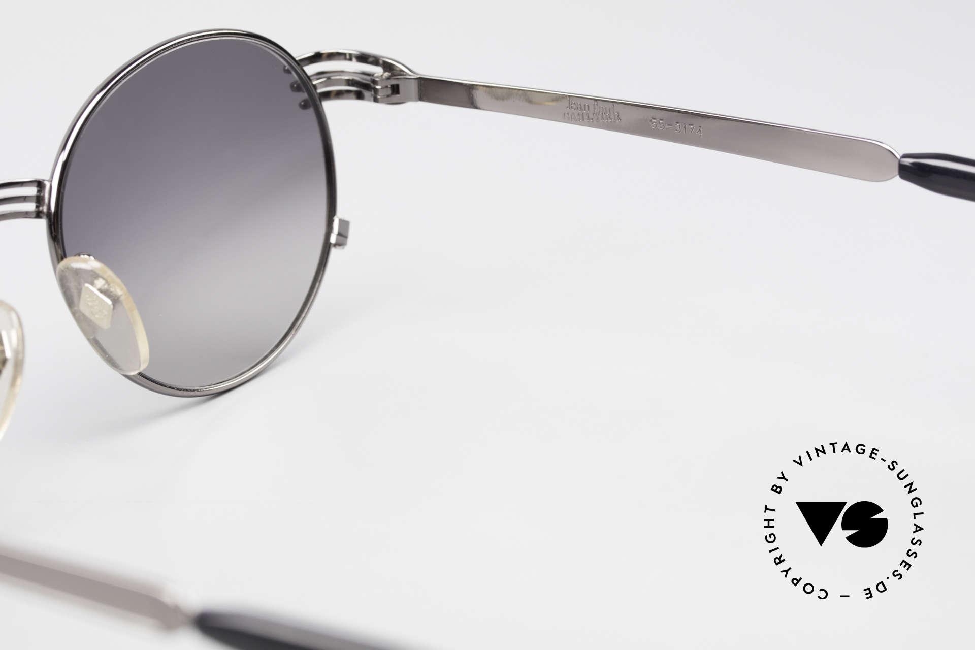 Jean Paul Gaultier 55-3174 Designer Vintage 90's Glasses, NO RETRO sunglasses, but a precious original from 1994, Made for Men and Women