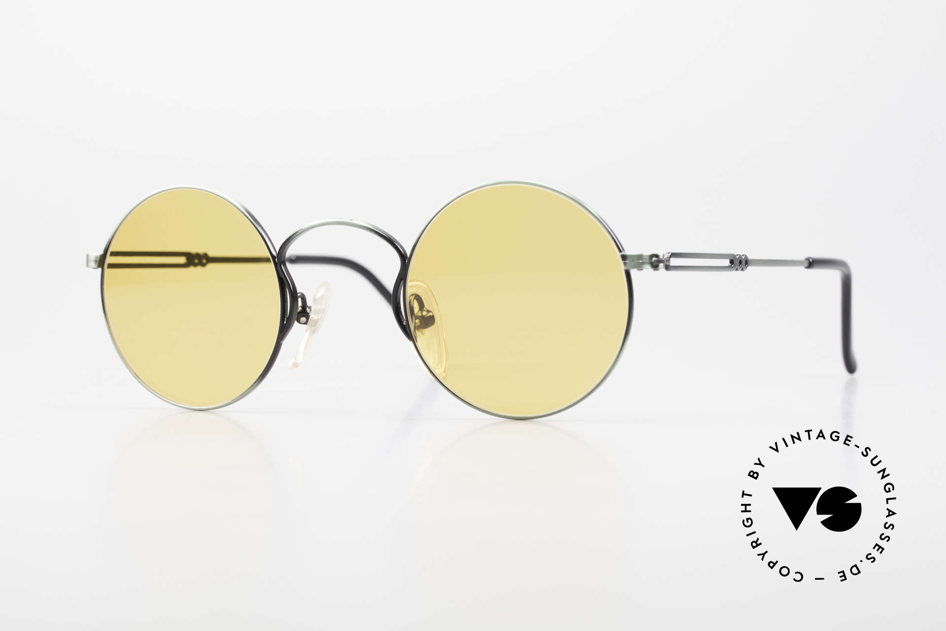 Jean Paul Gaultier 55-0172 Round 90's Vintage Glasses JPG, designer sunglasses by Jean Paul Gaultier from 1994, Made for Men and Women
