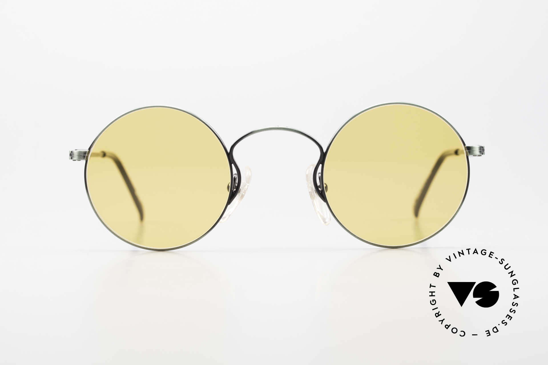 Jean Paul Gaultier 55-0172 Round 90's Vintage Glasses JPG, round metal frame; lightweight & very comfortable, Made for Men and Women
