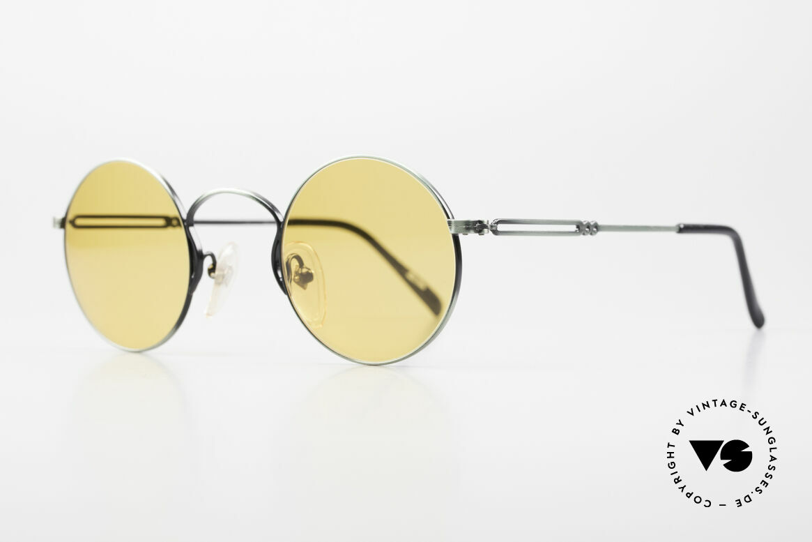 Jean Paul Gaultier 55-0172 Round 90's Vintage Glasses JPG, high-class finish (brushed metal in green-metallic), Made for Men and Women