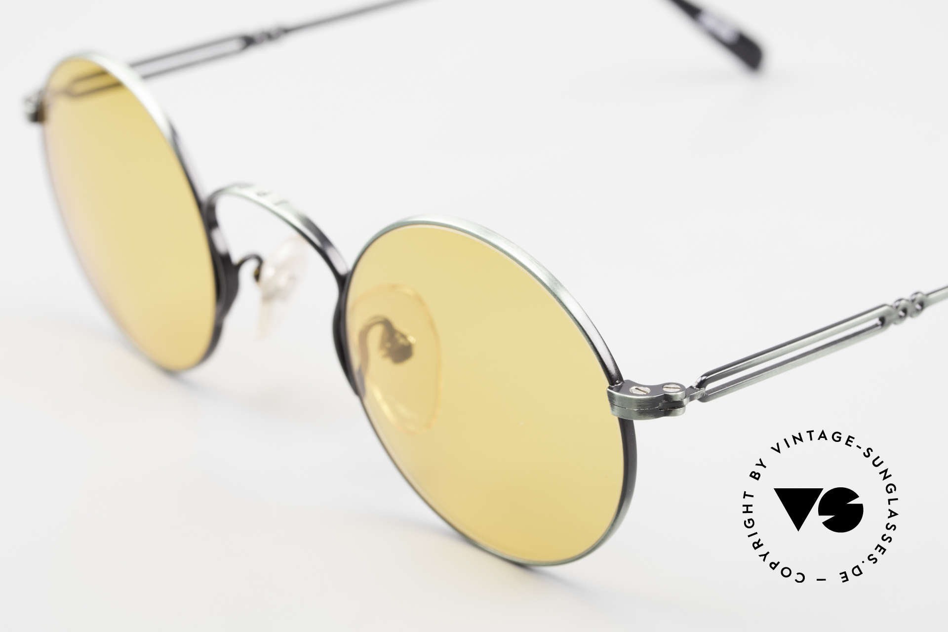 Jean Paul Gaultier 55-0172 Round 90's Vintage Glasses JPG, new old stock (like all our rare vintage sunglasses), Made for Men and Women