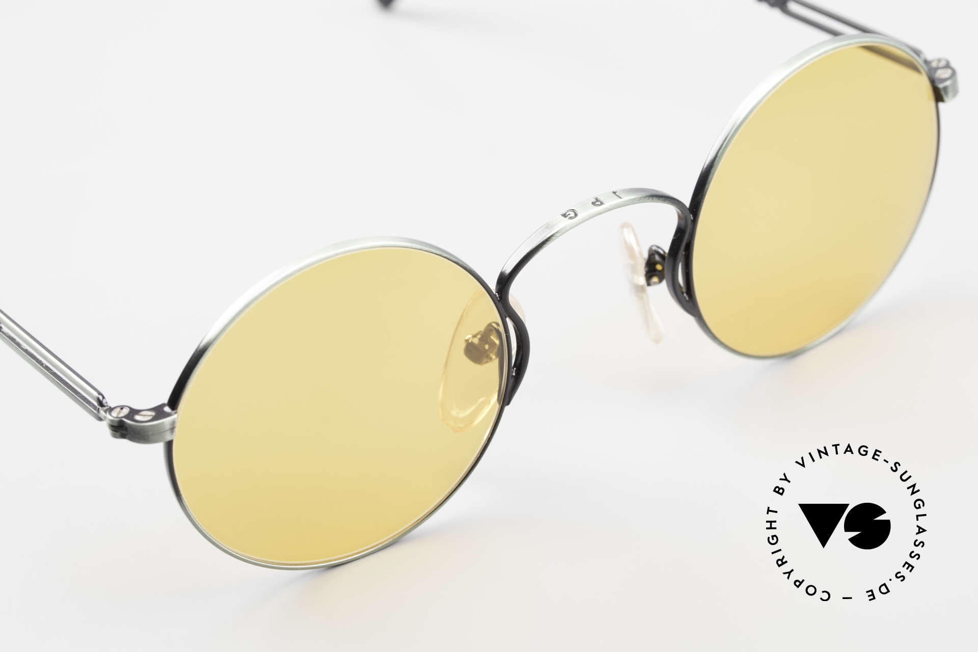 Jean Paul Gaultier 55-0172 Round 90's Vintage Glasses JPG, NO RETRO shades, but an old J.P. Gaultier original, Made for Men and Women