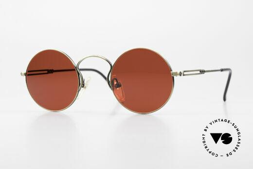 Jean Paul Gaultier 55-0172 90's Designer Sunglasses 3D Red Details