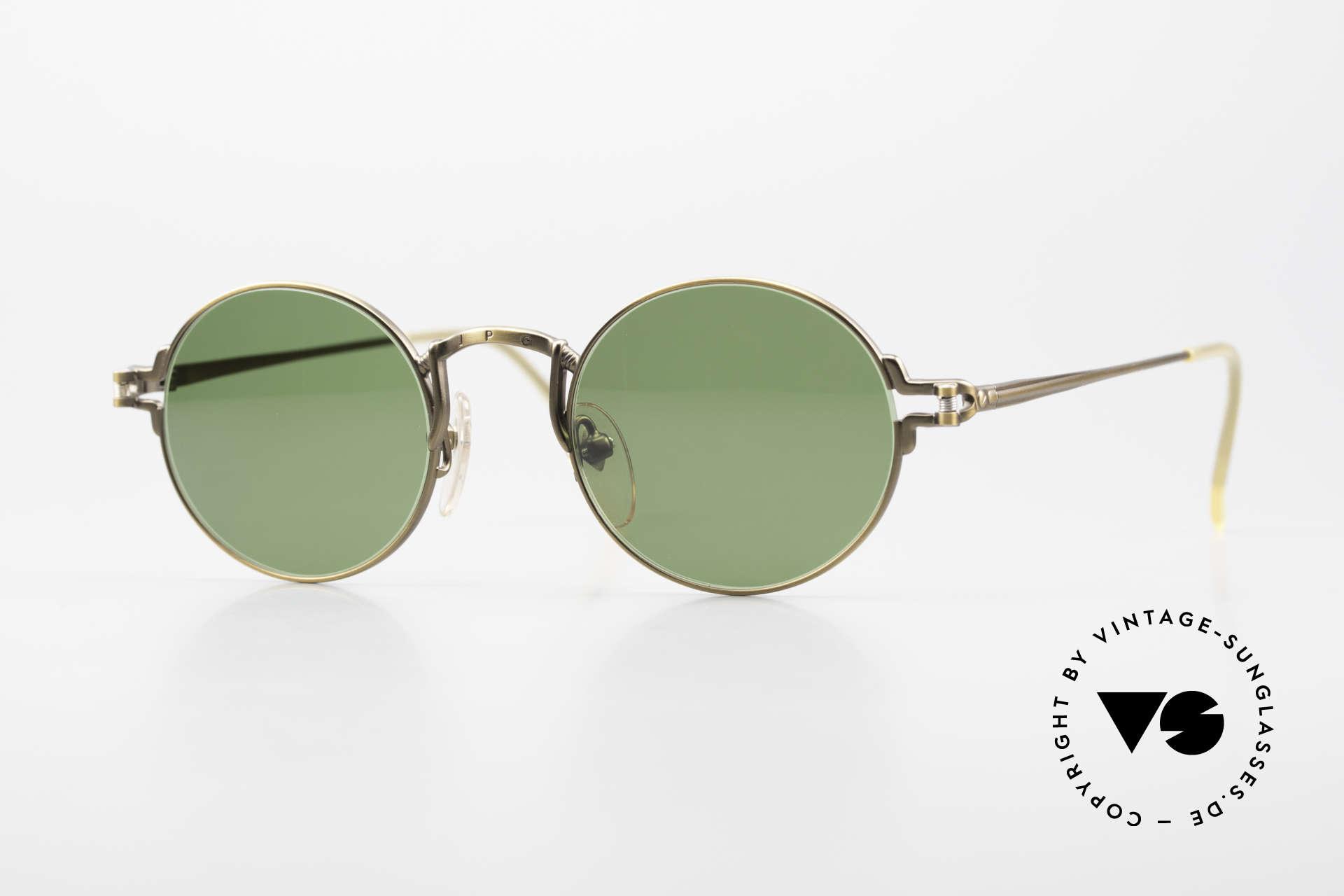Jean Paul Gaultier 55-3171 Round 90's JPG Sunglasses, noble, round Jean Paul GAULTIER vintage sunglasses, Made for Men and Women
