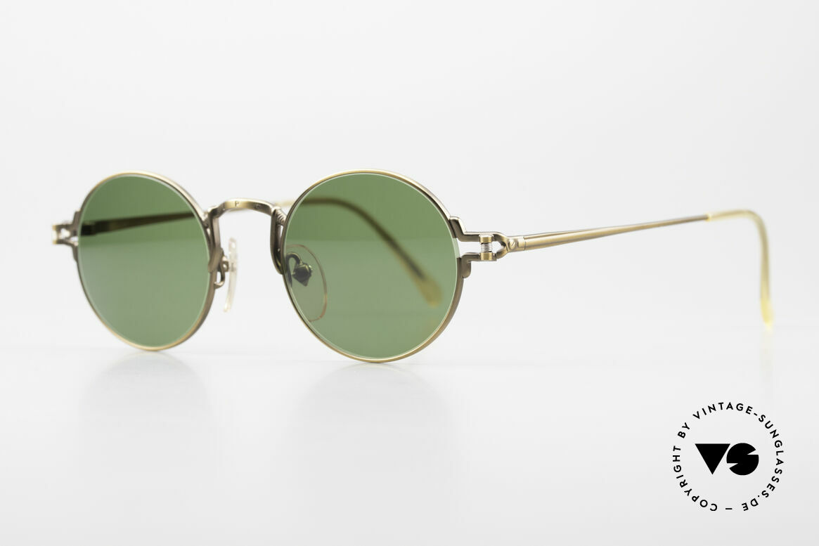Jean Paul Gaultier 55-3171 Round 90's JPG Sunglasses, but with some fancy frame details (distinctive J.P.G), Made for Men and Women