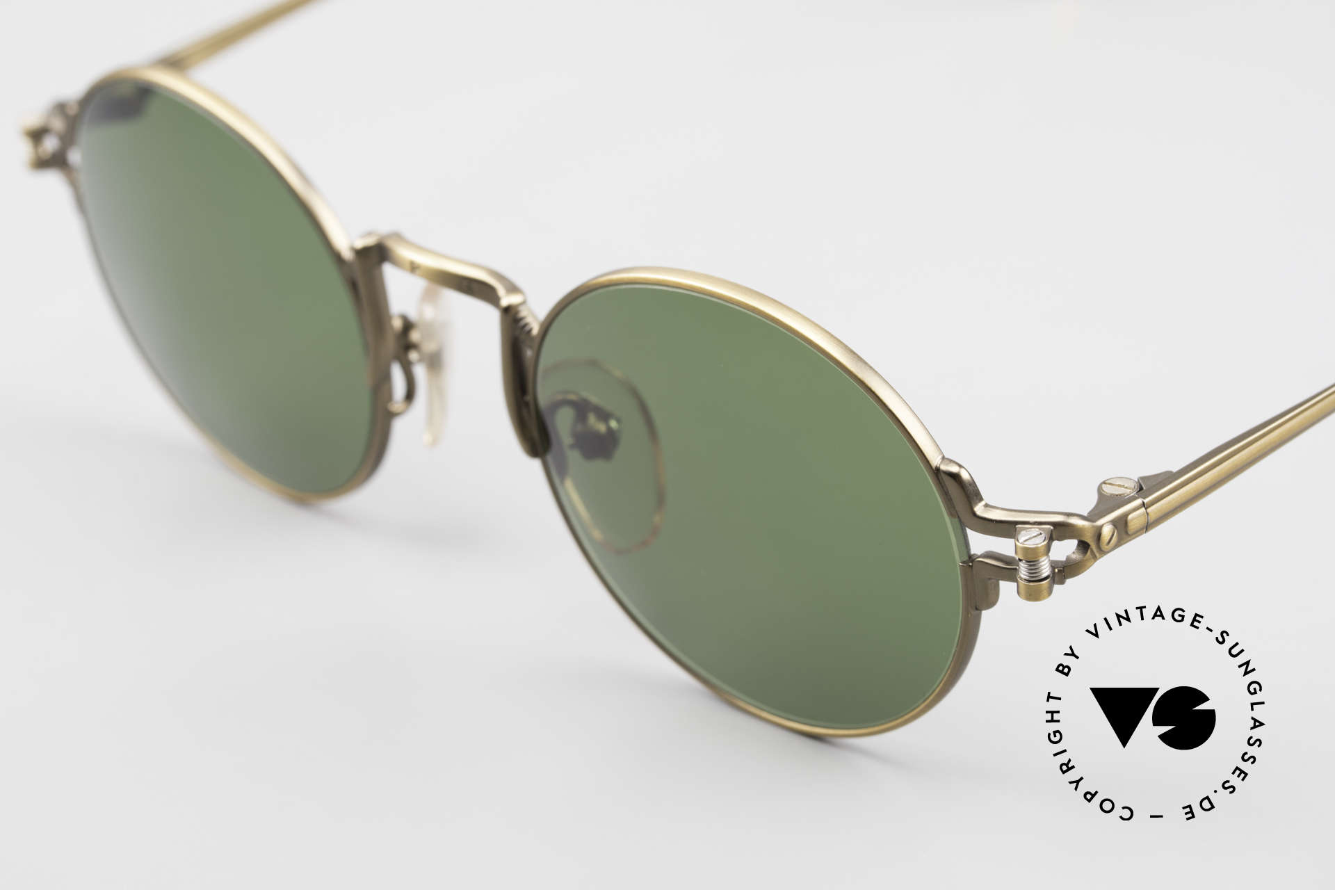 Jean Paul Gaultier 55-3171 Round 90's JPG Sunglasses, outstanding craftsmanship (made in Japan), size 46/20, Made for Men and Women