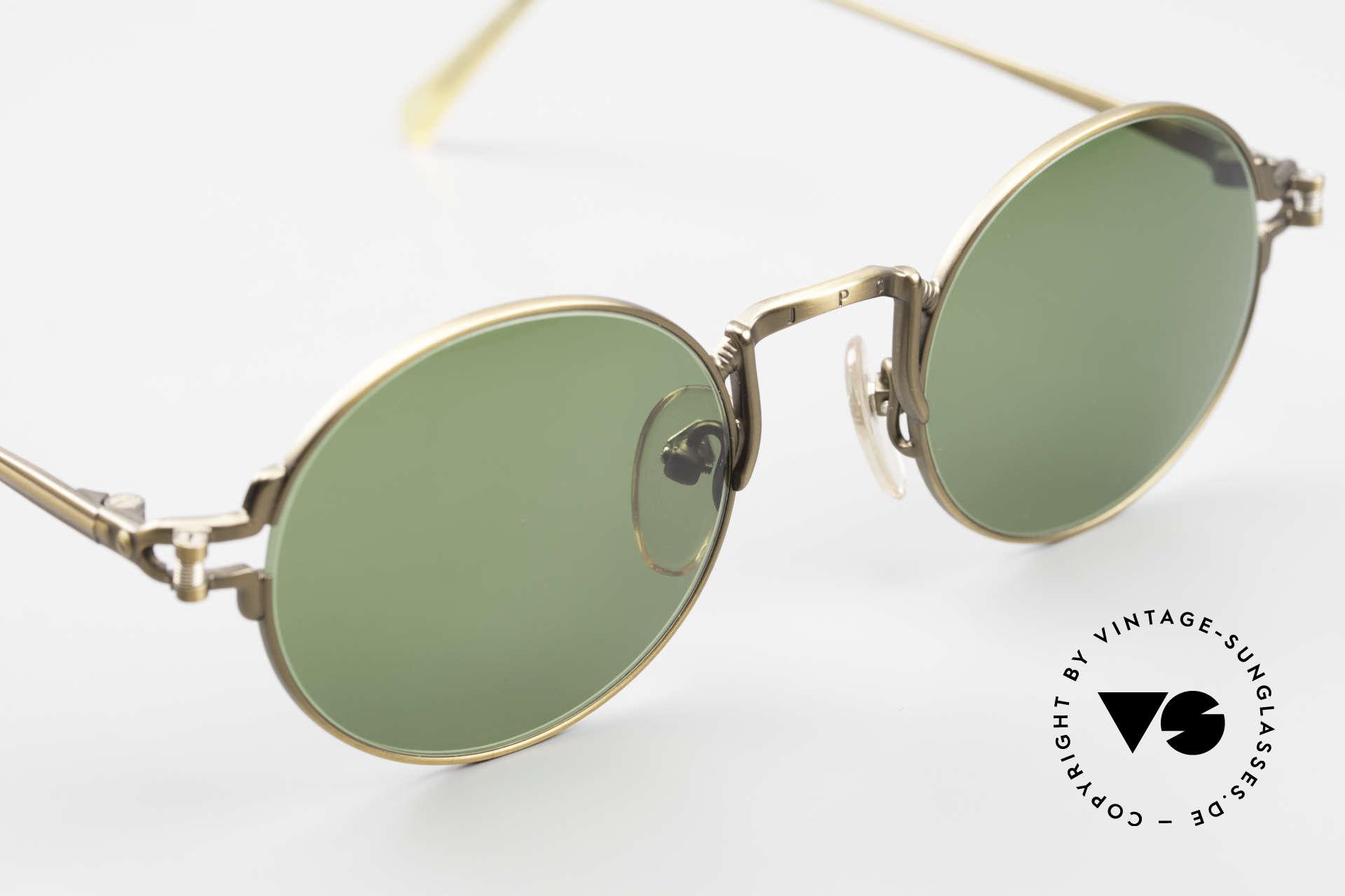 Jean Paul Gaultier 55-3171 Round 90's JPG Sunglasses, NO retro eyewear; a rare ORIGINAL with green lenses, Made for Men and Women