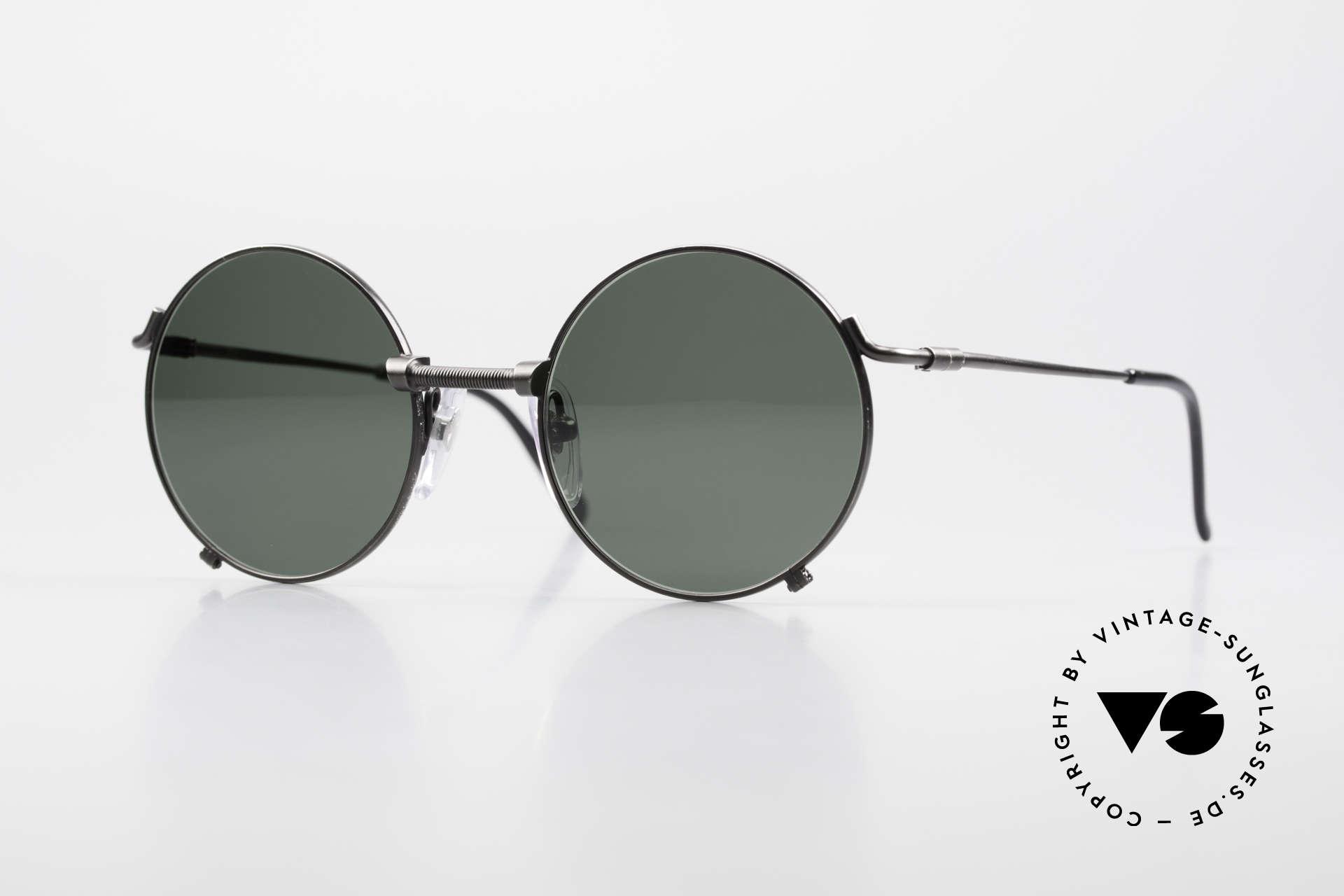 Jean Paul Gaultier 55-7162 Round Vintage Sunglasses 90s, timeless 90's sunglasses by Jean Paul Gaultier, Made for Men and Women