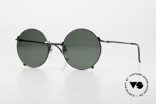 Jean Paul Gaultier 55-7162 Round Vintage Sunglasses 90s Details