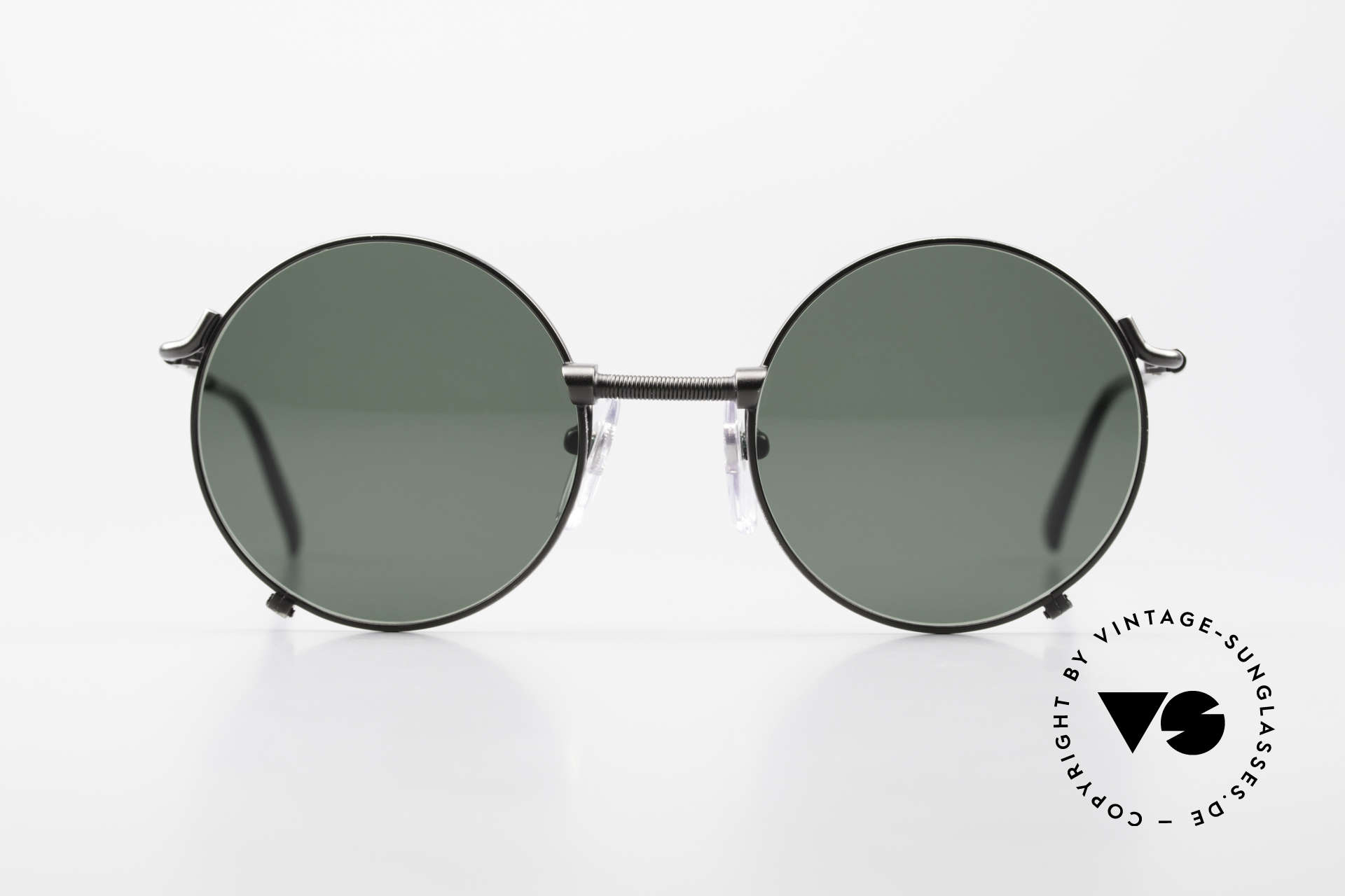 Jean Paul Gaultier 55-7162 Round Vintage Sunglasses 90s, round metal sunglasses in HIGH-END quality, Made for Men and Women