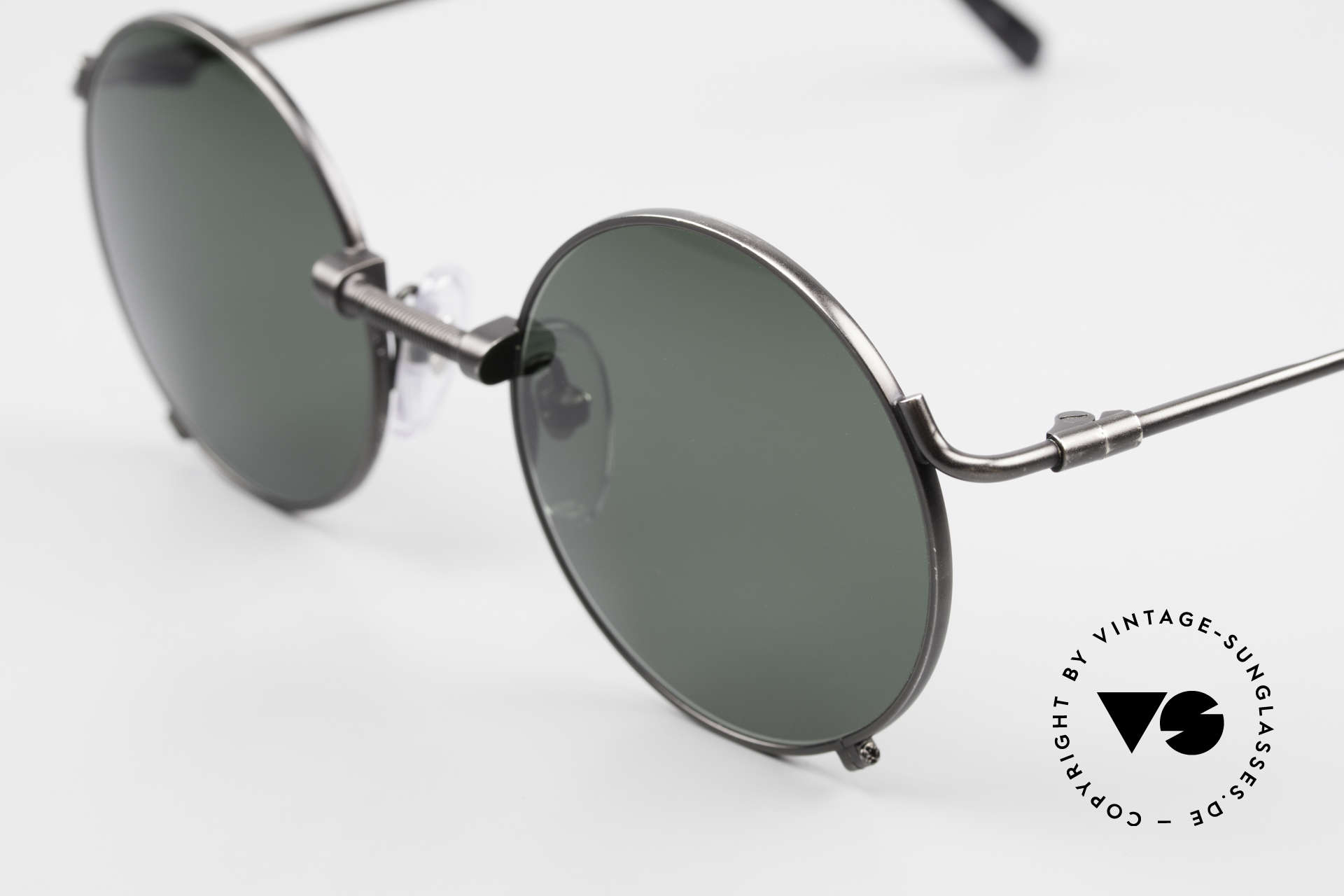 Jean Paul Gaultier 55-7162 Round Vintage Sunglasses 90s, 2nd hand model, but professionally refurbished, Made for Men and Women