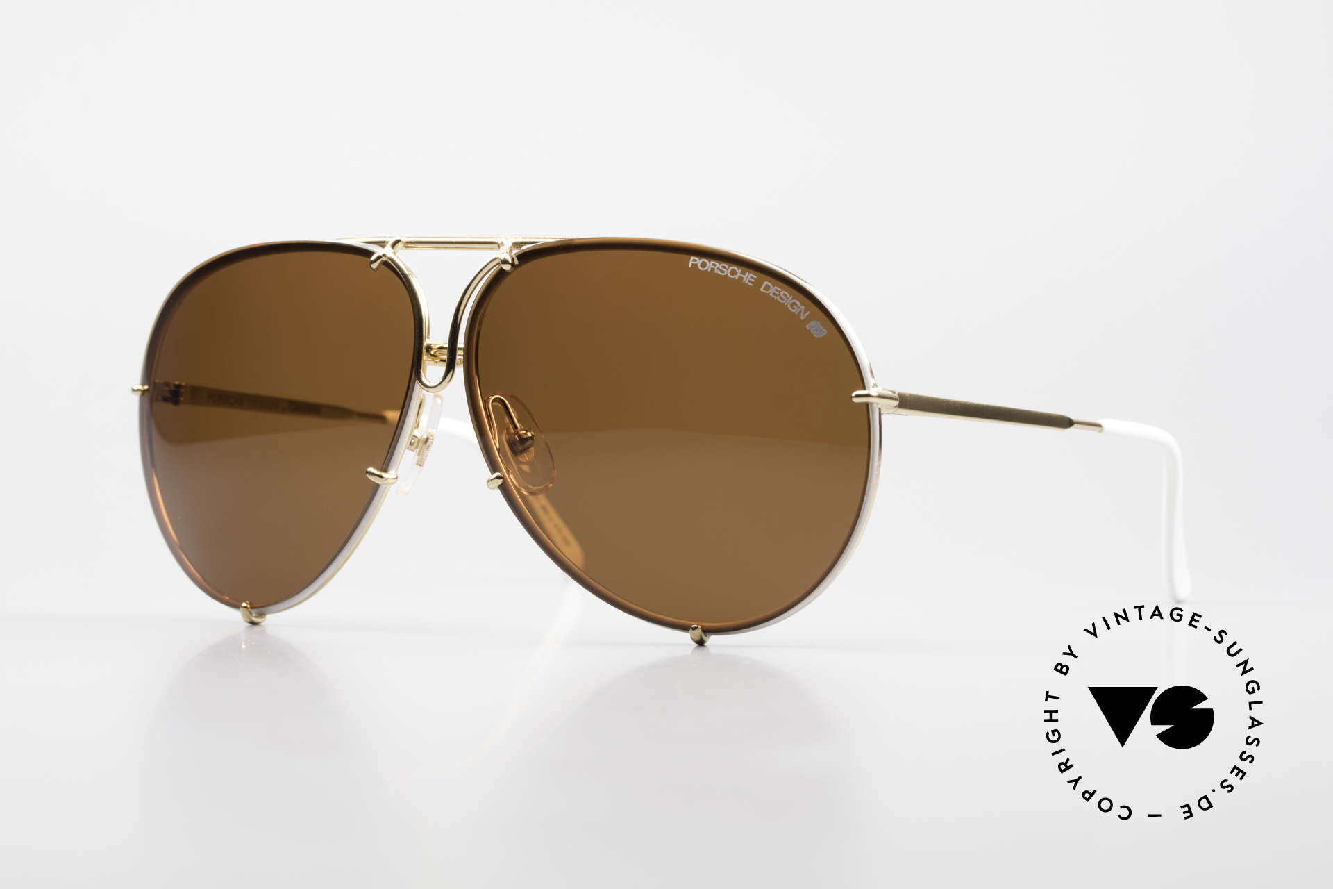 Porsche 5623 Special Edition Vintage Shades, rare interchangeable lenses in brown-gradient & brown, Made for Men and Women