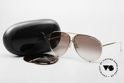 Porsche 5623 Special Edition Vintage Shades, unworn rarity incl. orig. Porsche case; collector's item, Made for Men and Women
