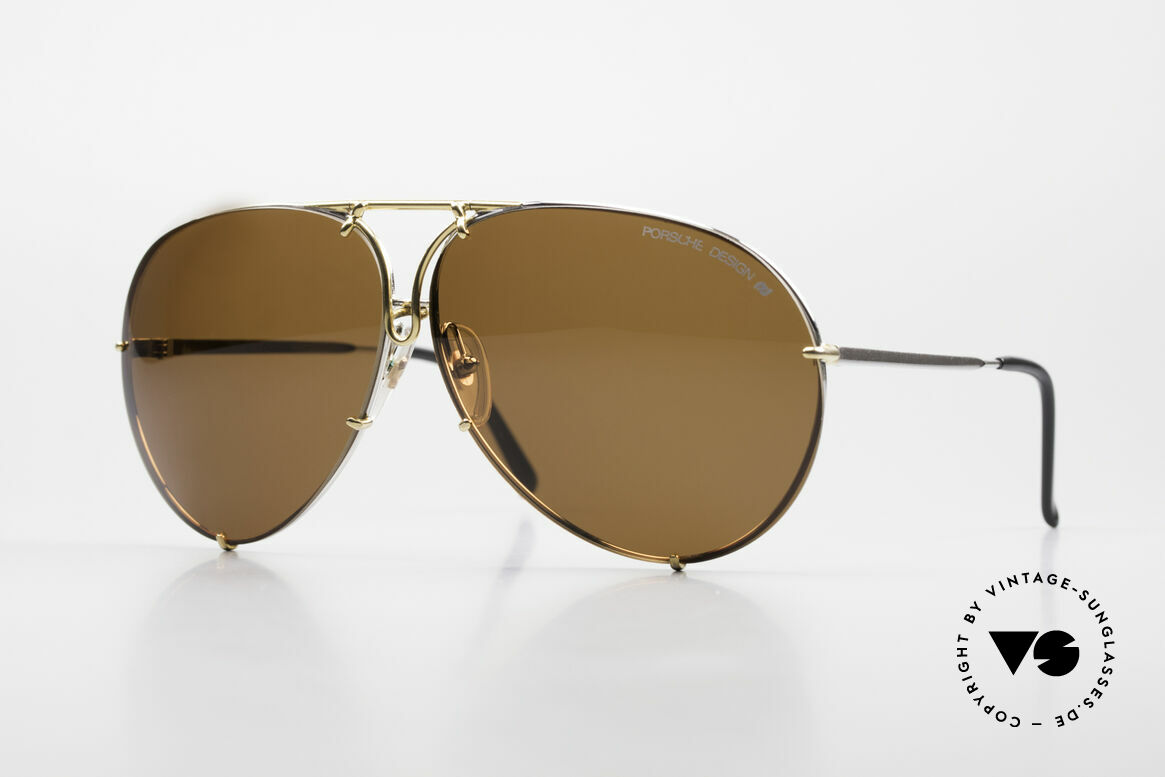 Porsche 5621 Oversized 80's Aviator Shades, the vintage classic by PORCHE DESIGN by CARRERA, Made for Men and Women