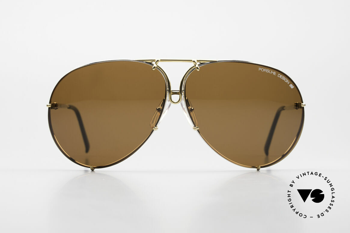 Porsche 5621 Oversized 80's Aviator Shades, the legend with interchangeable lenses; true vintage, Made for Men and Women