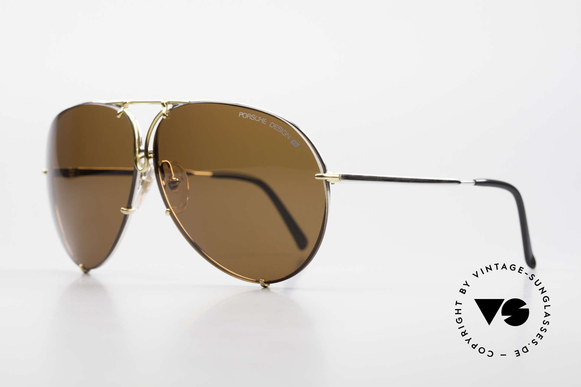 Porsche 5621 Oversized 80's Aviator Shades, old original incl. changeable lenses and Porsche case, Made for Men and Women