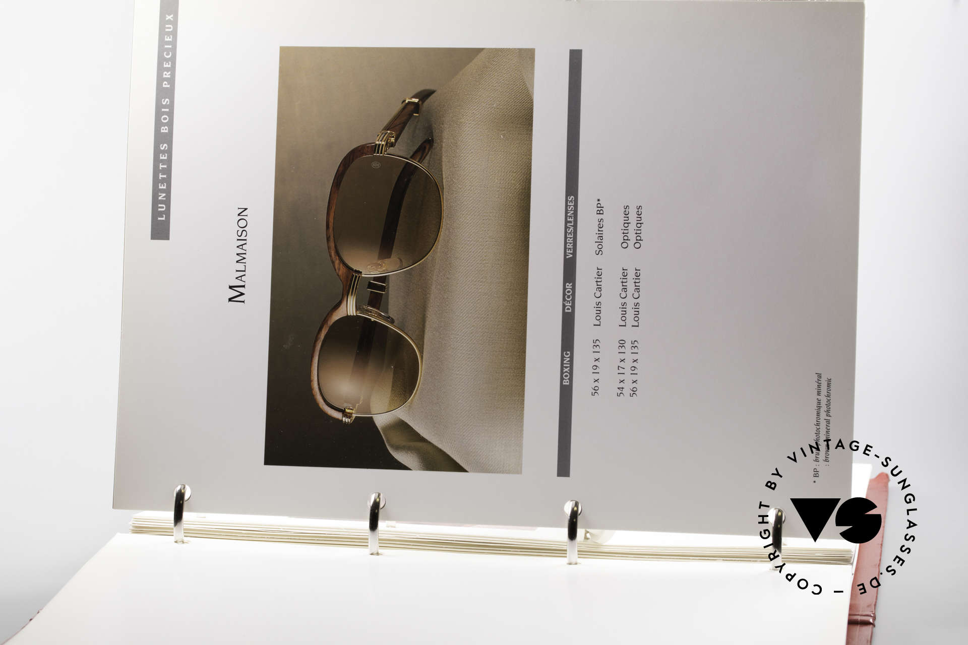 Cartier_ Catalog Cartier Lunettes Eyewear, collector's item (wasn't commercially available), Made for Men and Women