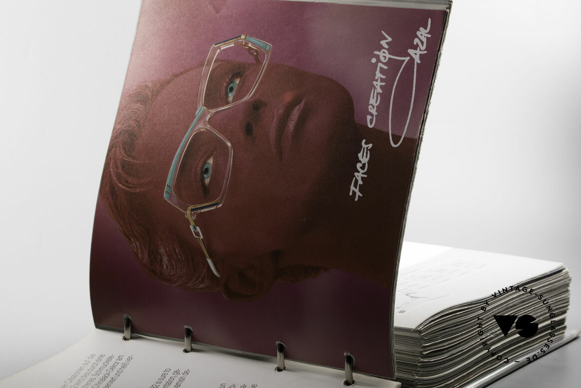 Cazal 0 Catalog Old 80's 90's Cazal Catalogue, exciting original with some insider information, Made for Men and Women