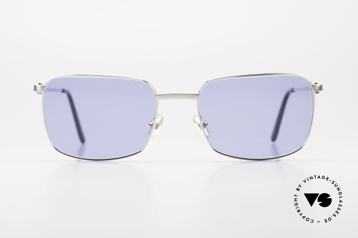 Cartier Trinidad Square Luxury Platinum Shades, square Cartier vintage sunglasses in size 56/19, 140, Made for Men