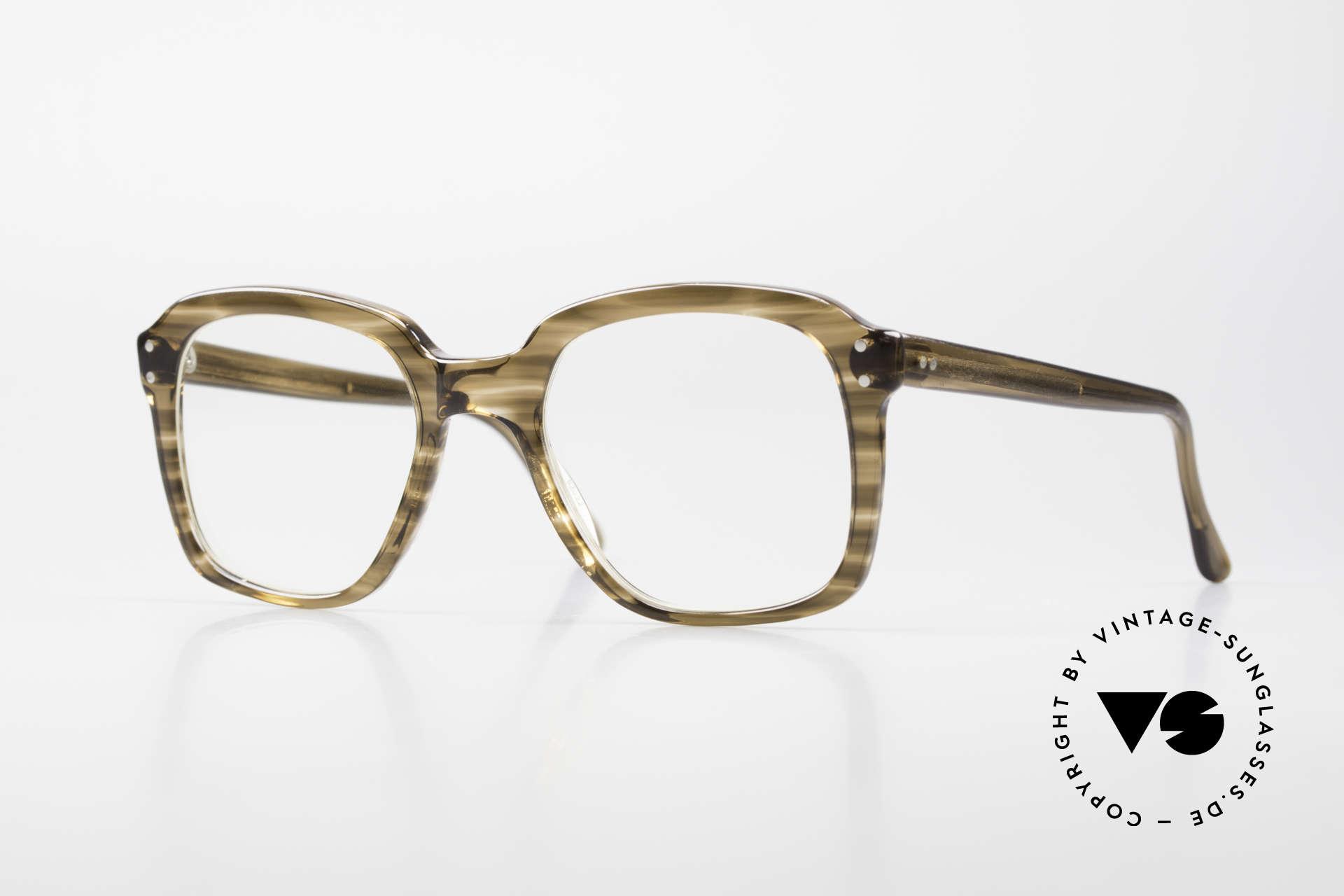 Metzler 449 Old 70's Original Nerd Glasses, old original Metzler eyeglass-frame from the 70's/80's, Made for Men