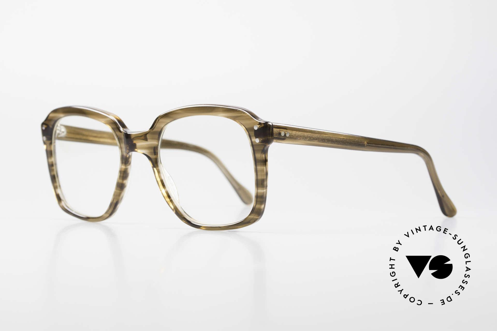 Metzler 449 Old 70's Original Nerd Glasses, massive frame, top craftsmanship; medium size 135mm, Made for Men