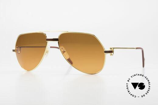 Cartier Vendome Laque - S Luxury 80's Aviator Sunglasses Details