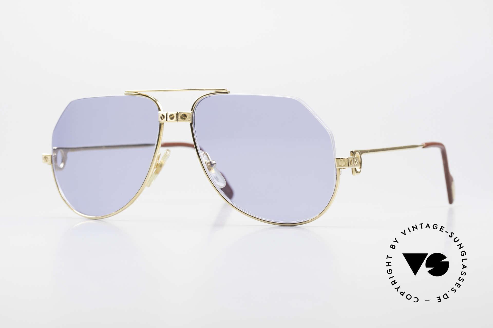 Cartier Vendome Santos - S One Of A Kind Nylor And Gold, unique Cartier Vendome sunglasses, SMALL size 56°14, Made for Men