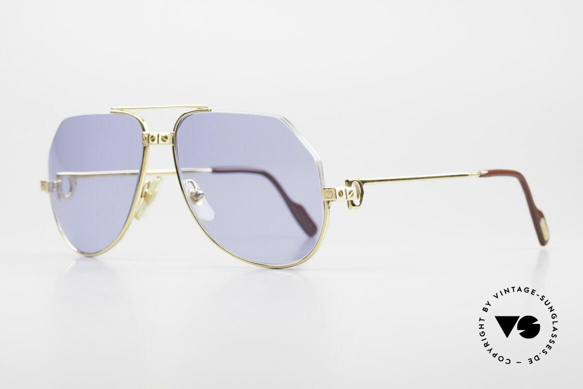 Cartier Vendome Santos - S One Of A Kind Nylor And Gold, upper metal part has been replaced with a Nylor thread, Made for Men