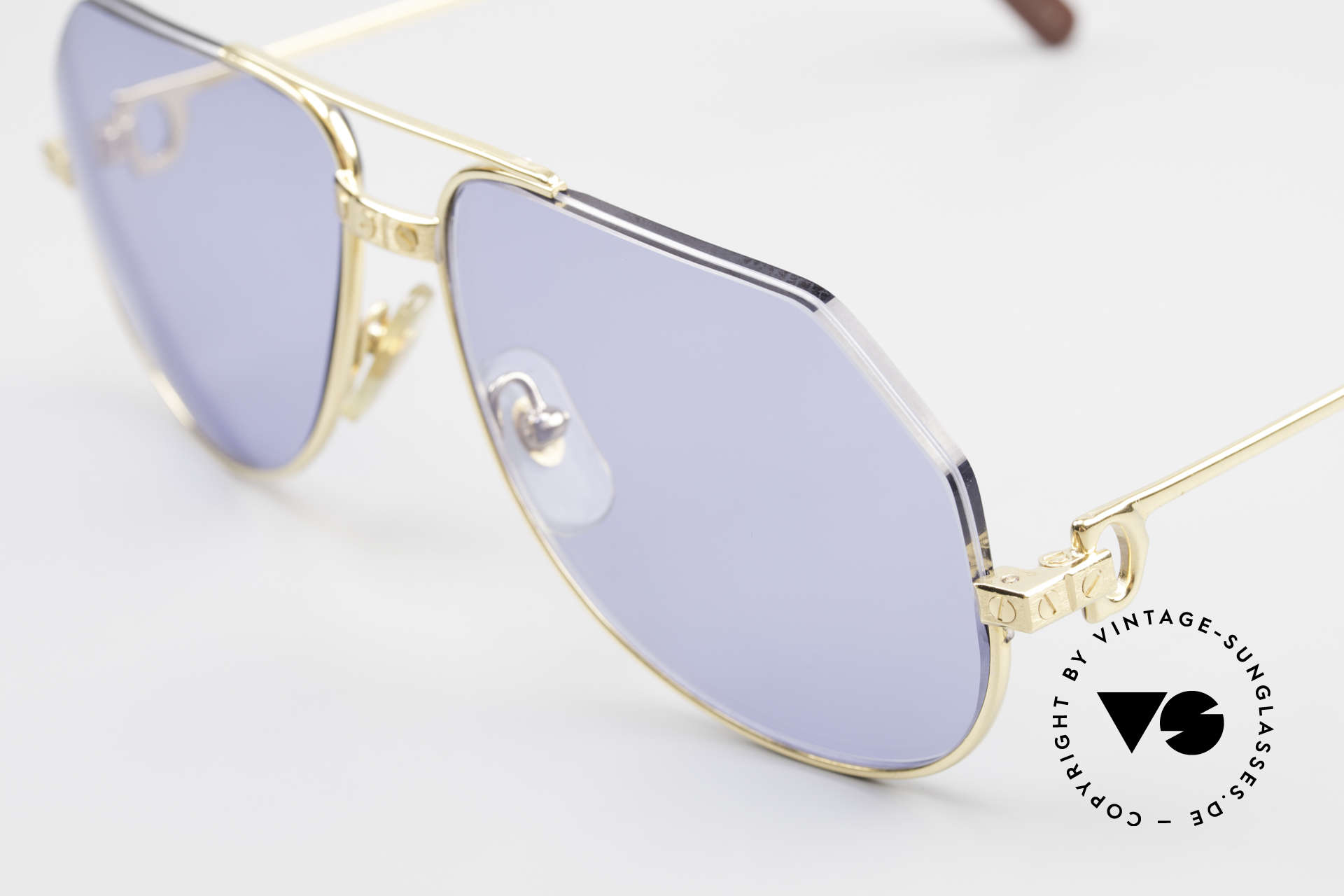 """Cartier Vendome Santos - S One Of A Kind Nylor And Gold, this makes the glasses lighter and more """"edgy"""" / unique, Made for Men"""