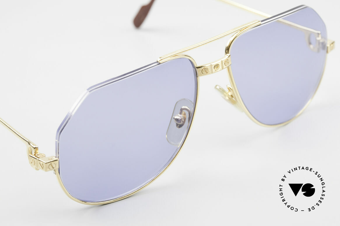 Cartier Vendome Santos - S One Of A Kind Nylor And Gold, fully 22ct GOLD-PLATED frame (even the Santos screws), Made for Men