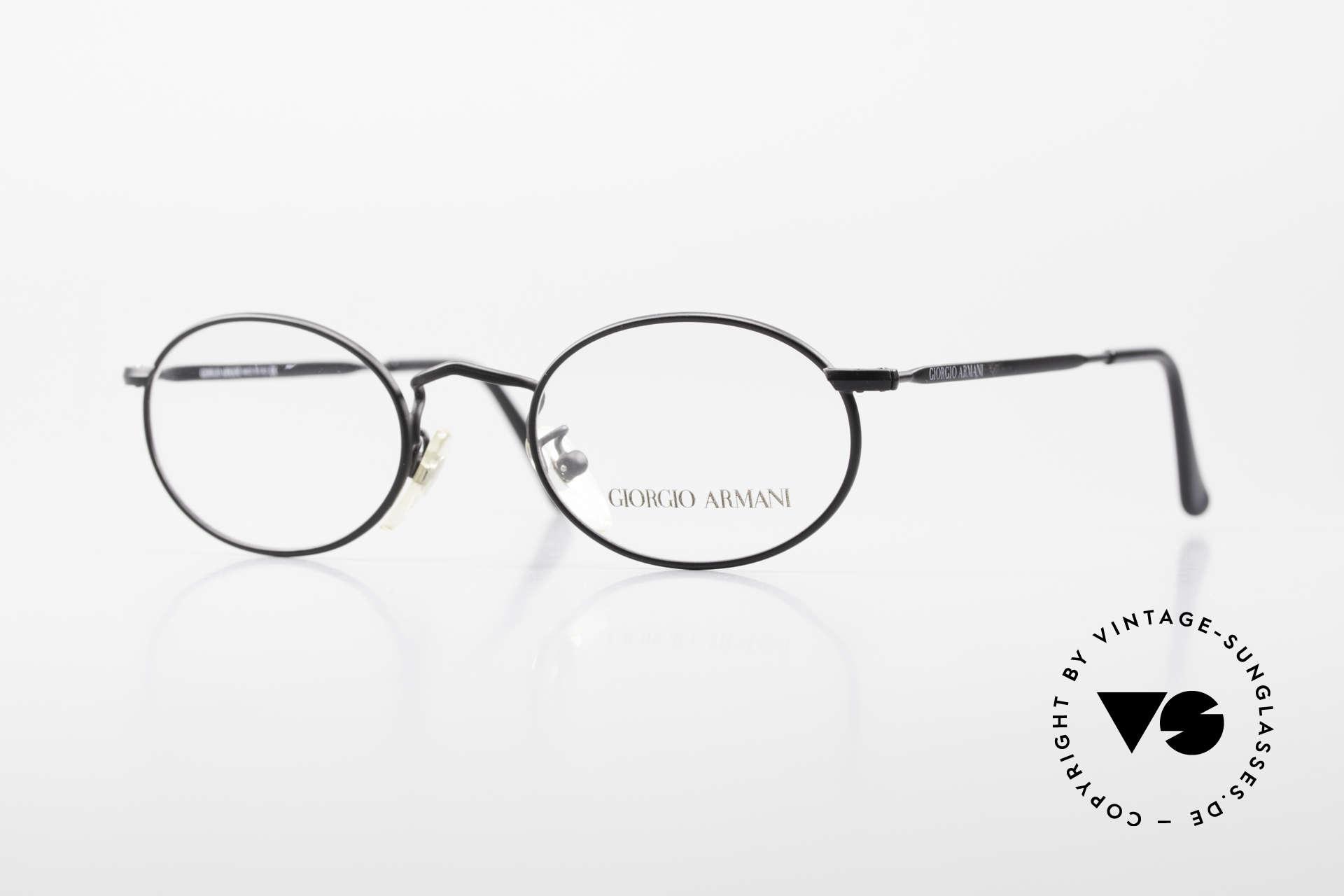 Giorgio Armani 131 Vintage Eyeglasses Oval Frame, oval GIORGIO ARMANI vintage designer eyeglasses, Made for Men and Women