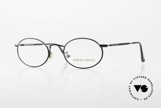 Giorgio Armani 131 Vintage Eyeglasses Oval Frame Details