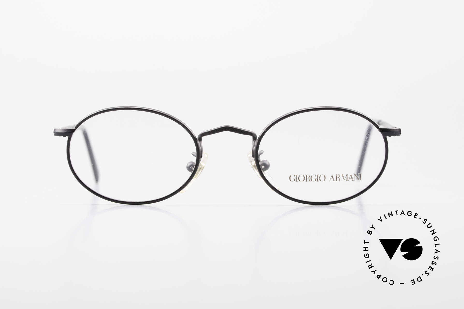 Giorgio Armani 131 Vintage Eyeglasses Oval Frame, model 131, col. 706 (black), SMALL size 46-20, 140, Made for Men and Women