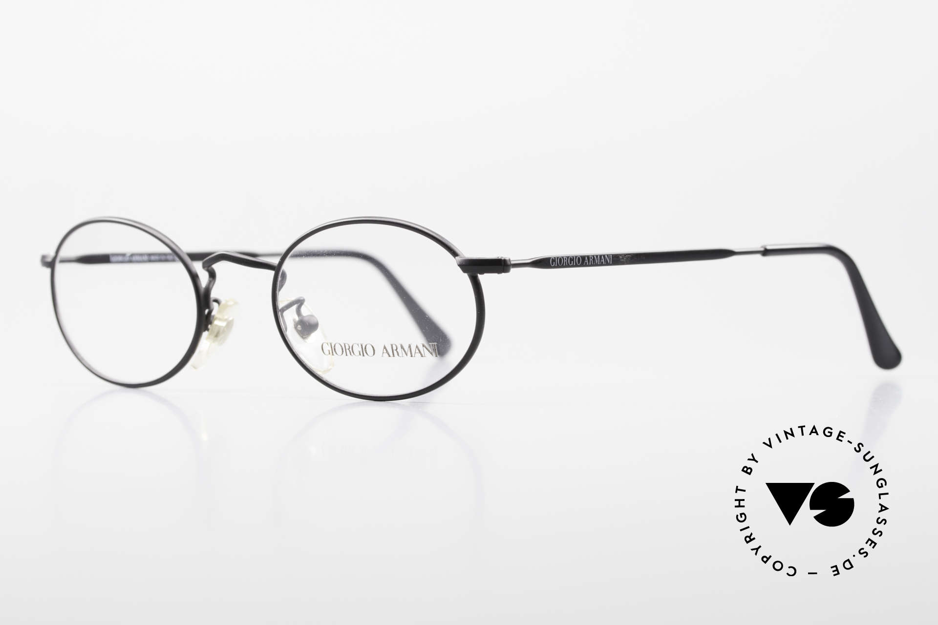 Giorgio Armani 131 Vintage Eyeglasses Oval Frame, a timeless 1980's model in tangible premium quality, Made for Men and Women
