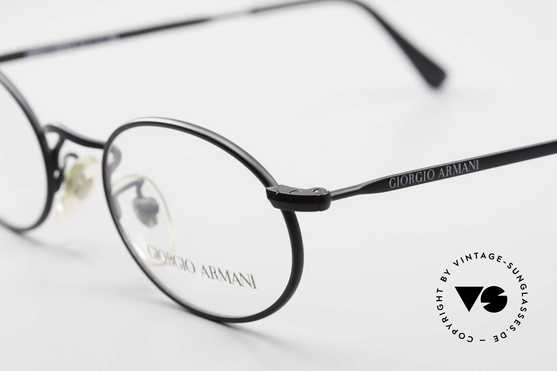 Giorgio Armani 131 Vintage Eyeglasses Oval Frame, never worn (like all our rare vintage Armani glasses), Made for Men and Women
