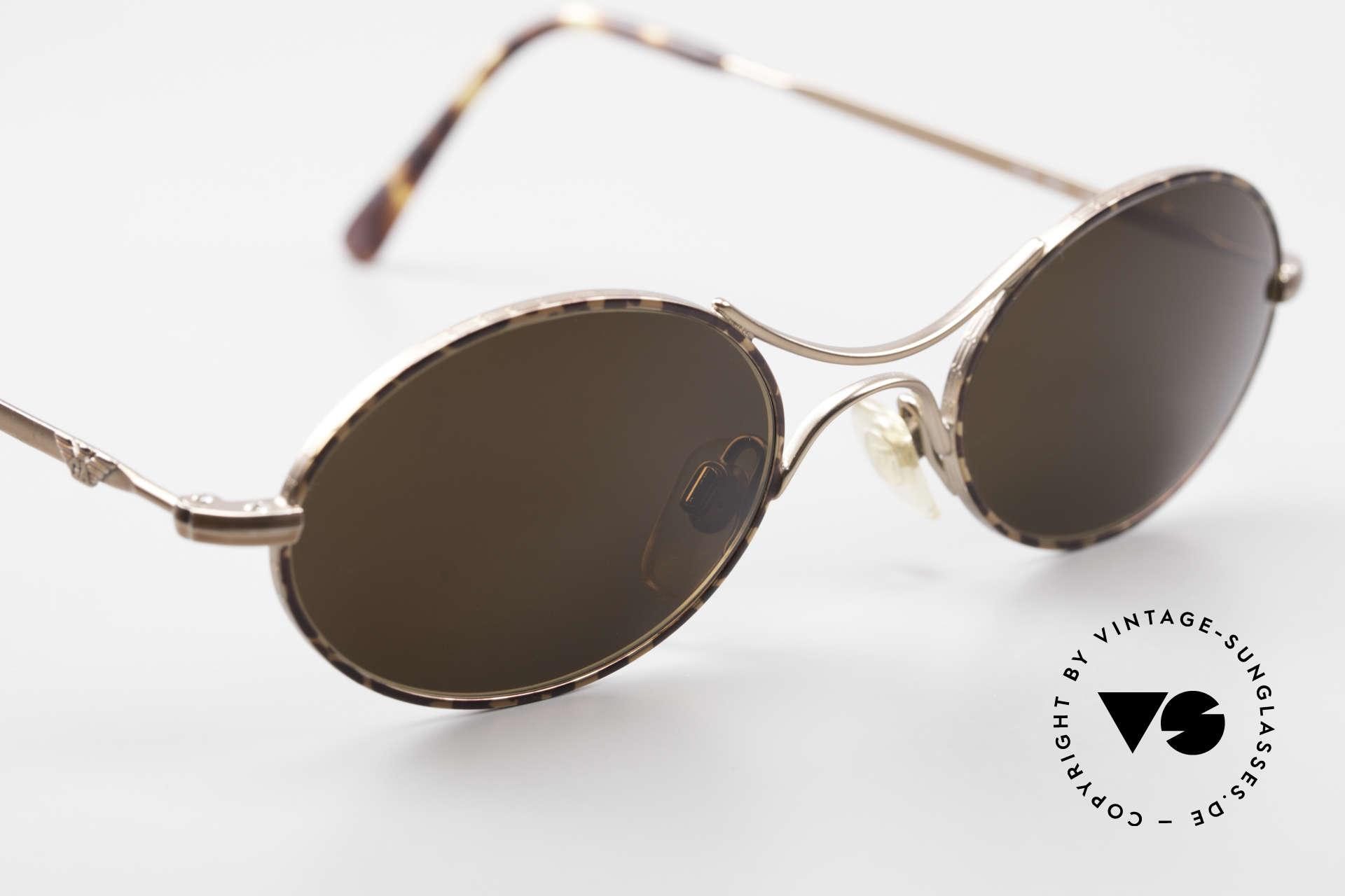 Giorgio Armani EA044 Successor Mod Schubert Glasses, small, plain and puristic 'wire glasses' with a X-bridge, Made for Men and Women