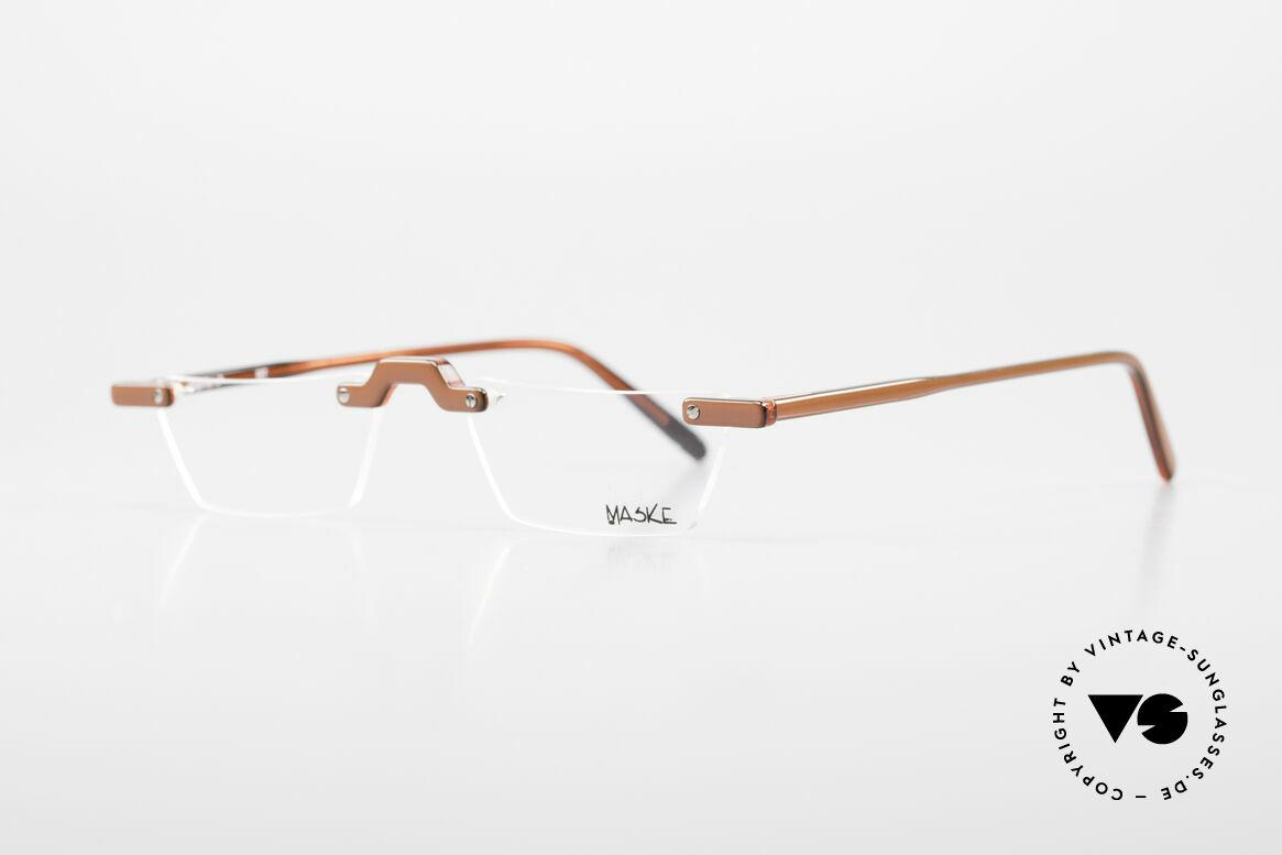 Design Maske Berlin Alpha 8 90's Designer Reading Glasses, 25 years old, but unworn, one of a kind (work of art), Made for Men and Women