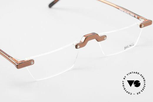 Design Maske Berlin Alpha 8 90's Designer Reading Glasses, DEMO lenses should be replaced with prescriptions, Made for Men and Women