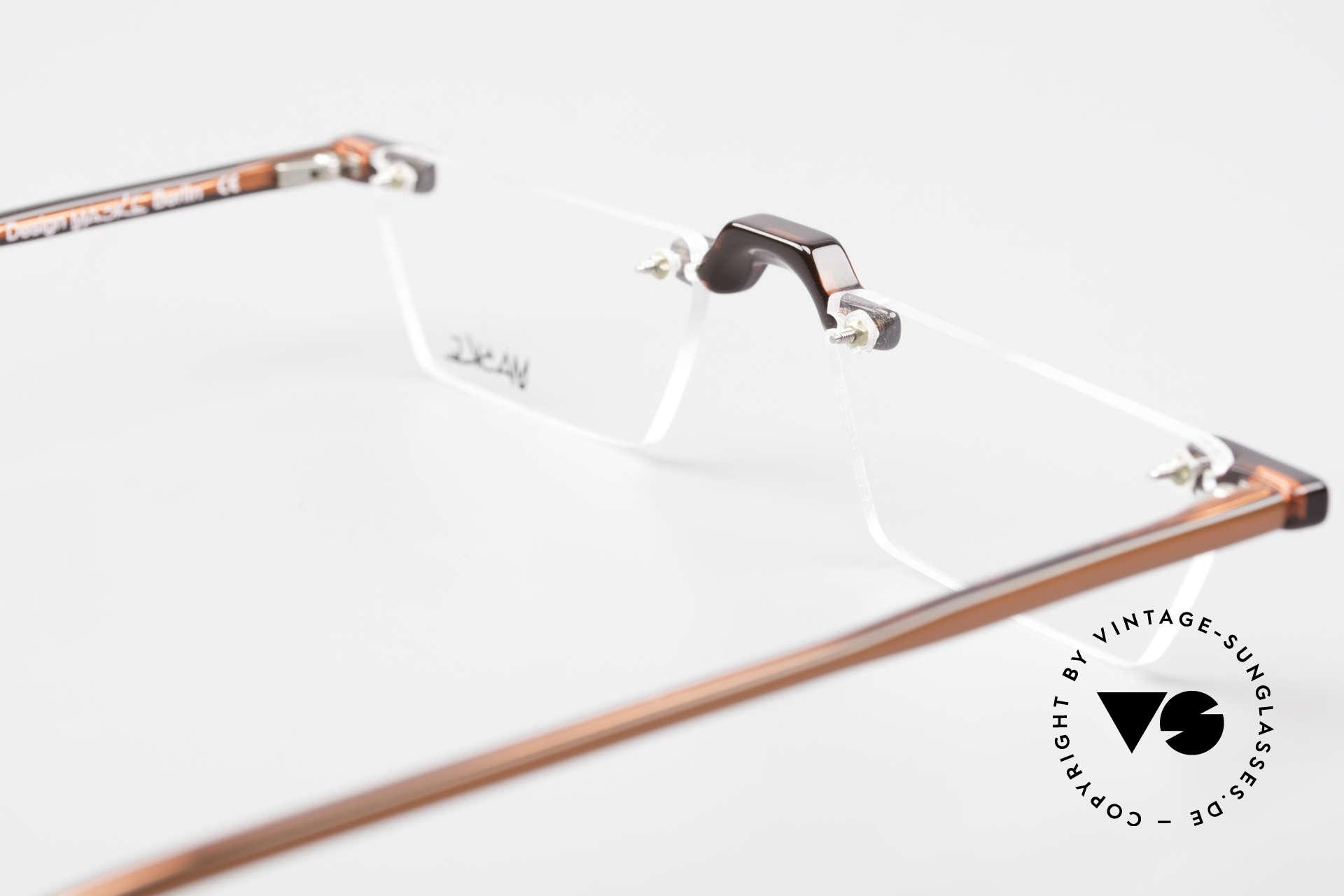 Design Maske Berlin Alpha 8 90's Designer Reading Glasses, Size: small, Made for Men and Women