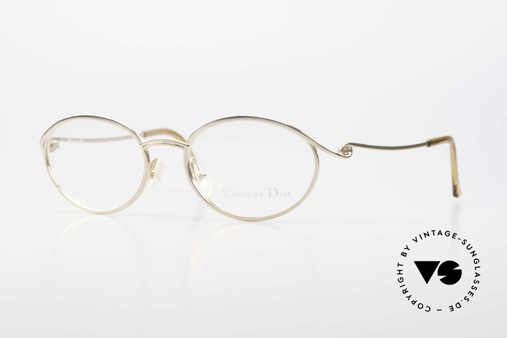 Christian Dior 2939 Ladies 90's Frame Gold Plated, beautiful 90's Chr. Dior vintage eyeglass-frame, Made for Women