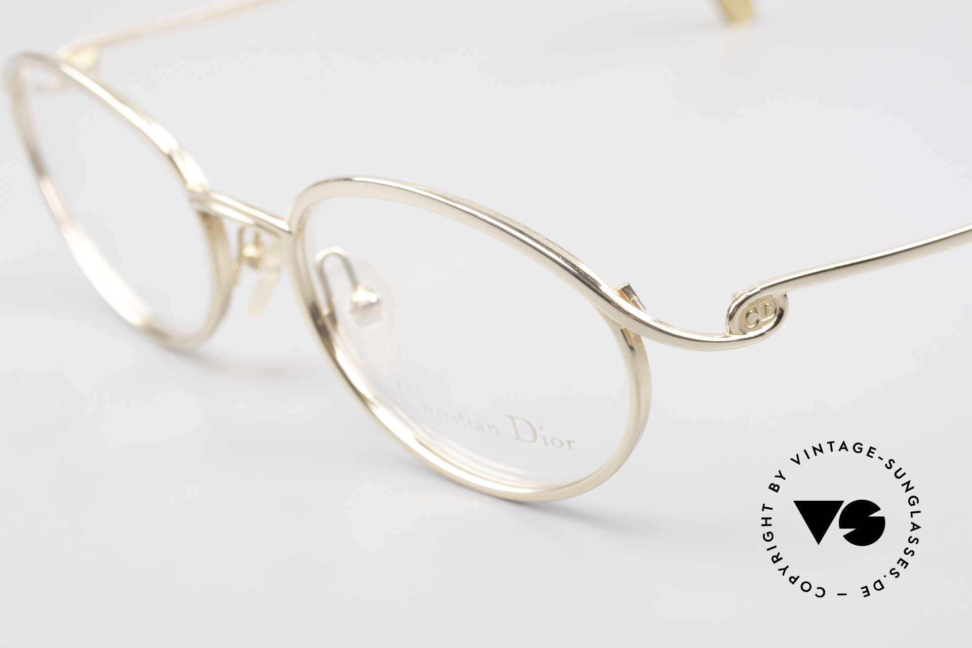Christian Dior 2939 Ladies 90's Frame Gold Plated, unworn (like all our vintage C. Dior eyeglasses), Made for Women