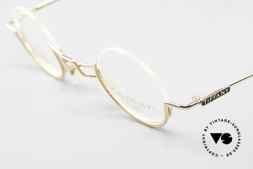 Tiffany T64 23K Gold Plated Luxury Frame, NO RETRO fashion, but an app. 30 years old rarity!, Made for Women