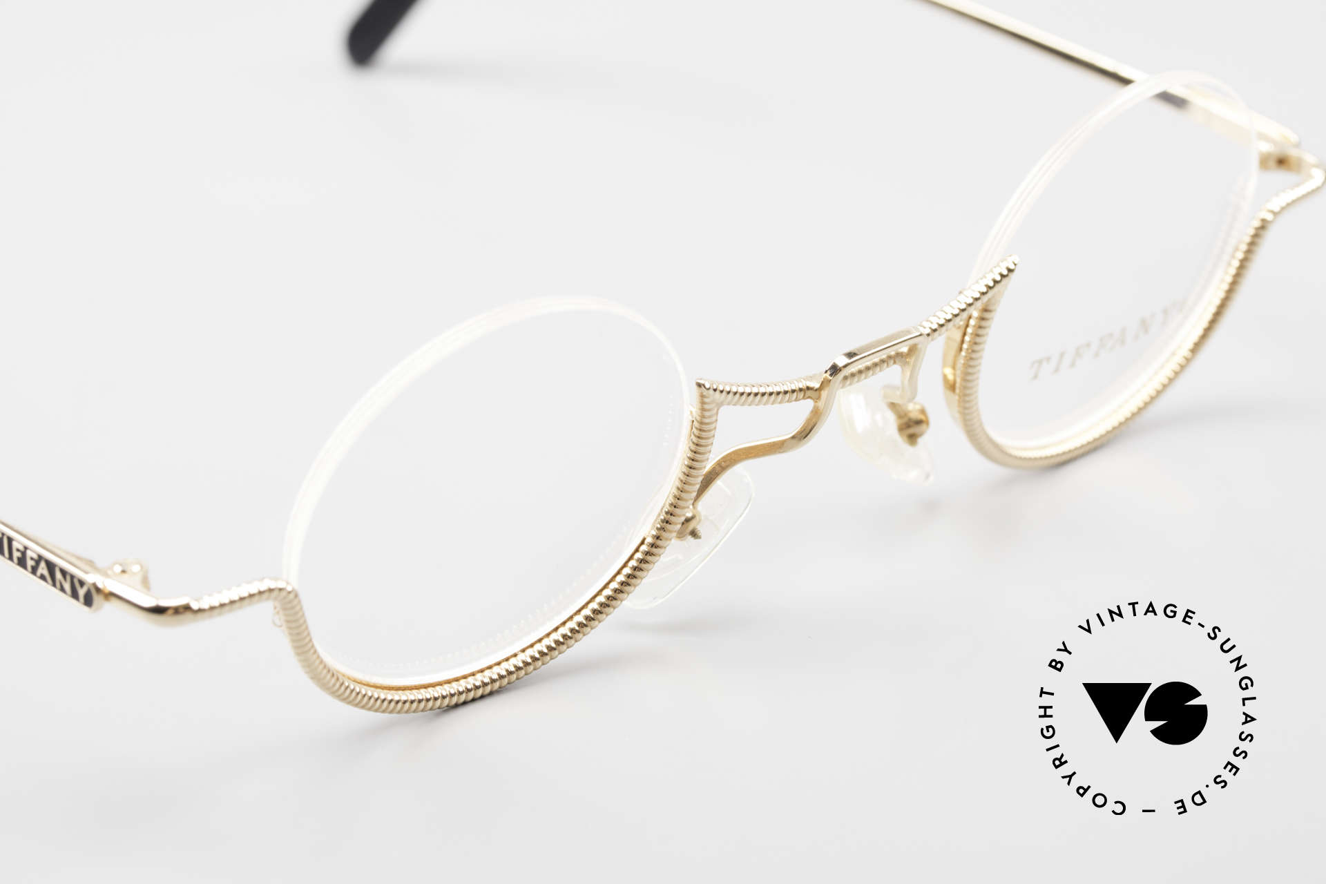 Tiffany T64 23K Gold Plated Luxury Frame, Size: small, Made for Women