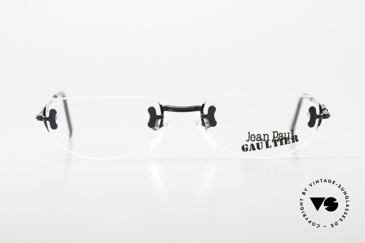 Jean Paul Gaultier 55-0174 Rimless JPG Designer Glasses, rimless glasses, but striking & fancy (designer piece), Made for Men and Women