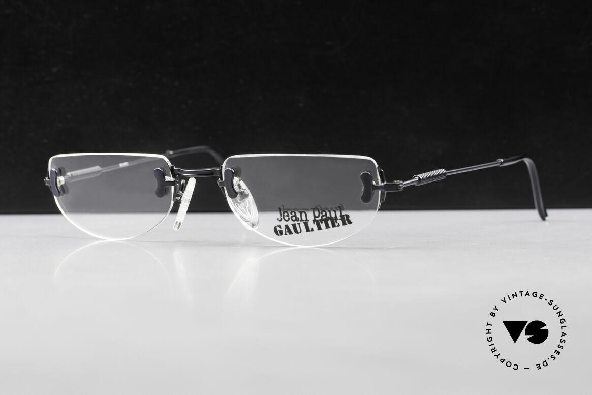 Jean Paul Gaultier 55-0174 Rimless JPG Designer Glasses, black-finished frame with subtle details, size 52/19, Made for Men and Women