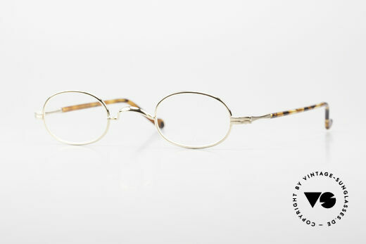 Lunor II A 08 Small Oval Glasses Gold Plated Details