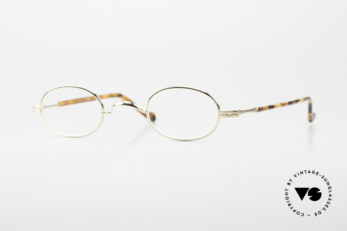 """Lunor II A 08 Small Oval Glasses Gold Plated, small oval Lunor glasses of the old Lunor """"II-A"""" series, Made for Men and Women"""