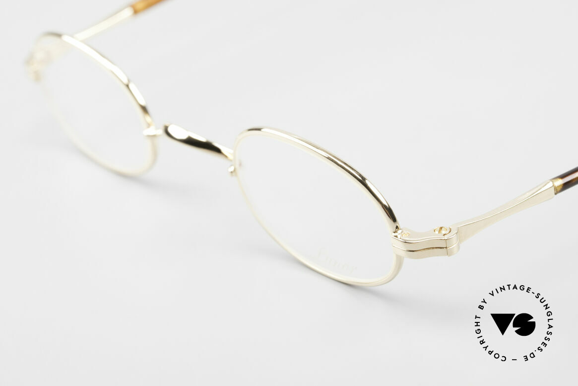 Lunor II A 08 Small Oval Glasses Gold Plated, noble, classy, timeless = a genuine LUNOR ORIGINAL!, Made for Men and Women
