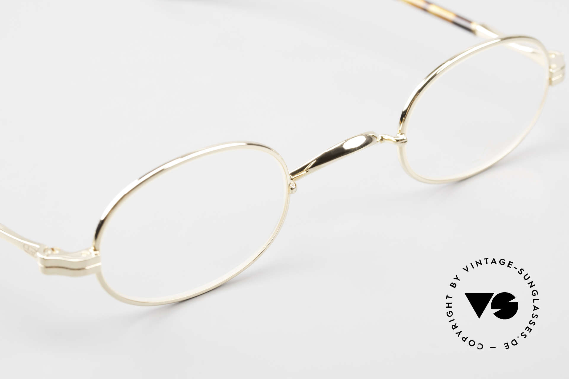Lunor II A 08 Small Oval Glasses Gold Plated, unworn RARITY (for all lovers of quality) from app. 1998, Made for Men and Women