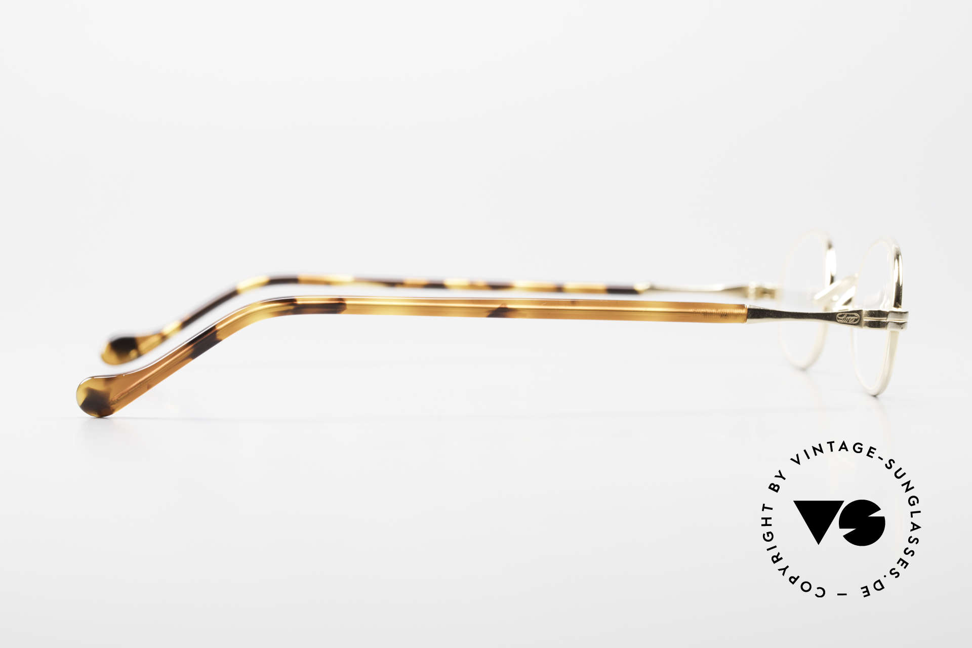 Lunor II A 08 Small Oval Glasses Gold Plated, NO RETRO EYEWEAR; but a luxury ORIGINAL; size 40/25, Made for Men and Women